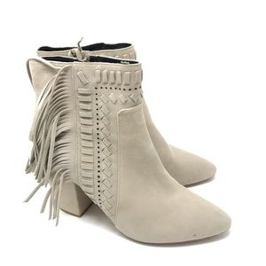 Rebecca Minkoff Boots Ilan Suede Fringe Ankle